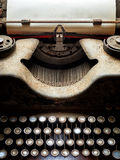 Typewriter covered with dust Royalty Free Stock Image