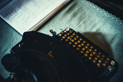 Typewriter With Cyrillic Letters Royalty Free Stock Photo