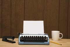 Typewriter on desk. Royalty Free Stock Image
