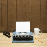 Typewriter on desk. Royalty Free Stock Images