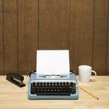 Typewriter on desk. Royalty Free Stock Images