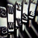 Typewriter detail Royalty Free Stock Photos