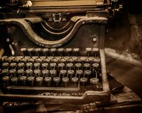 Typewriter in dust Royalty Free Stock Image