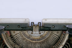 Typewriter and empty white paper Royalty Free Stock Photos
