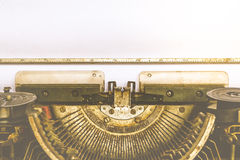 Typewriter and empty white paper , vintage style Stock Photos