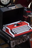 Typewriter in the flea market. A corner in the flea market of Xiamen, shows a old office typewriter, photo taken on May 2.2010 Royalty Free Stock Images