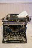 Typewriter Guestbook at Wedding. LORANE, OR - AUGUST 27, 2016: Typewriter guestbook at a wedding ceremony in Oregon stock images