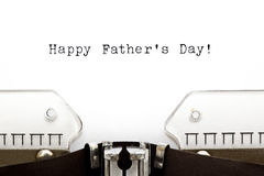 Typewriter Happy Fathers Day Stock Photo