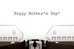 Typewriter Happy Mothers Day Stock Photos