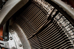 Typewriter Hebrew typebars Stock Photography