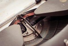 Typewriter Hebrew typebars Royalty Free Stock Photo