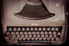 Typewriter Hebrew typebars Royalty Free Stock Photos