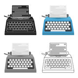 Typewriter icon in cartoon style isolated on white background. Films and cinema symbol stock vector illustration. Stock Images