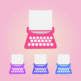 Typewriter icons set Stock Photo