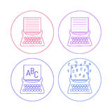 Typewriter icons Stock Photo