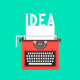 Typewriter with idea text on white sheet Royalty Free Stock Image