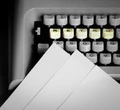 Typewriter keyboard Stock Image