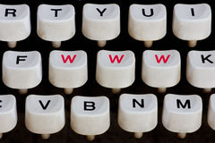Typewriter keyboard Stock Images
