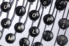 Typewriter keyboard Royalty Free Stock Photos