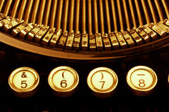 Typewriter keyboard. Keys of an old typewriter. symbolic photo for communication in former times Stock Image
