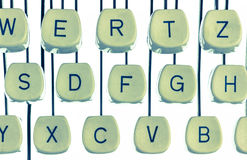 Typewriter keyboard. Keys of an old typewriter. symbolic photo for communication in former times Royalty Free Stock Photography