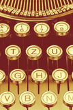 Typewriter keyboard Stock Photography