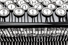 Typewriter keyboard Royalty Free Stock Photography