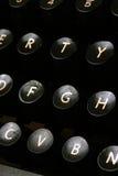 Typewriter keys. Close up of old typewriter keys Stock Photo