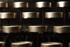 Typewriter keys. Macro view of typewriter keys Royalty Free Stock Photo