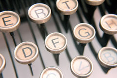 Typewriter keys Royalty Free Stock Images