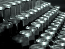 Typewriter keys. Closeup of the keys of an old typewriter Royalty Free Stock Images
