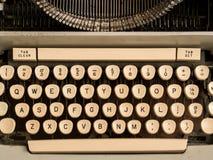 Typewriter keys. On vintage machine Royalty Free Stock Images