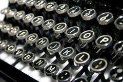 Typewriter Keys. Detail of antique typewriter keys royalty free stock image