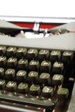 Typewriter keys. A close-up of the keys of an old typewriter royalty free stock photos