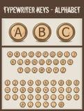 Typewriter keys- alphabet Royalty Free Stock Photography