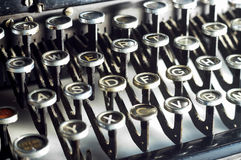 Typewriter keys Royalty Free Stock Photo