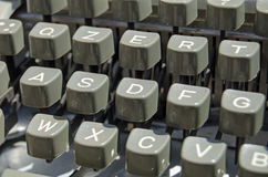Typewriter keys detail Stock Photography
