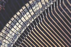 Typewriter keys detail Stock Photo