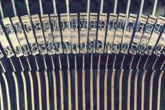 Typewriter keys detail Royalty Free Stock Photos