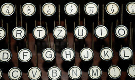 Typewriter keys Royalty Free Stock Photos