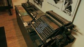 Typewriter keys. Keys on an antique typewriter. Shot of Typewriter keys. Keys on an antique typewriter stock footage