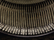 Typewriter keys. Old typewriter keys as close Royalty Free Stock Photo