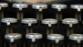 Typewriter Keys. Vintage Typewriter Keys. Extra Close Up stock video footage