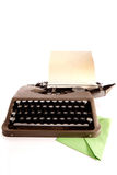 Typewriter and Letter. Iconic typewriter from a best-selling novel stock photos