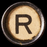 Typewriter letter R Royalty Free Stock Image
