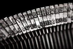 Typewriter letter typebar Stock Photography