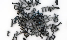 Typewriter letters Royalty Free Stock Images