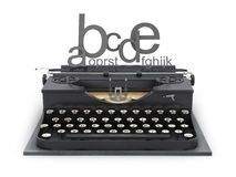 Typewriter and letters Royalty Free Stock Image