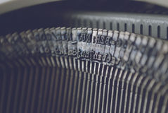 Typewriter letters. Closeup of old typewriter letters Royalty Free Stock Photos