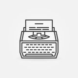 Typewriter line icon Royalty Free Stock Photography